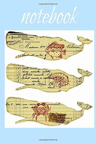 Notebook: Whale Homework Book Notepad Composition and Journal Diary por Retrosun Designs