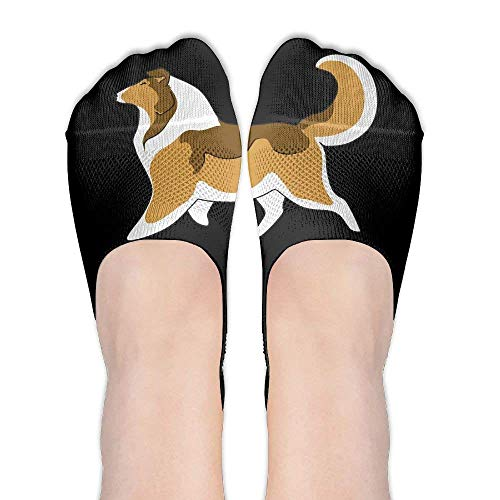 Kotdeqay Rough Collie Ankle High Low Cut No Show Socks Non Slip Boat Liner Socks Summer Socks for Women