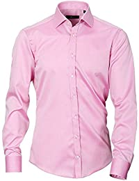 Venti Slim Fit Hemd Feintwill rosa