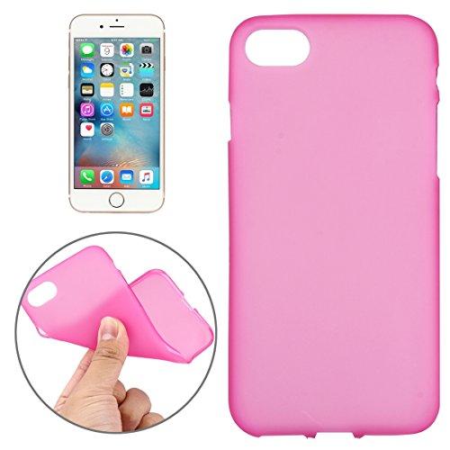 GHC Cases & Covers, Für iPhone 7 Solid Color TPU Schutzmaßnahmen zurück Abdeckung Fall, kleine Menge Empfohlen vor iPhone 7 Starten ( Color : White ) Magenta