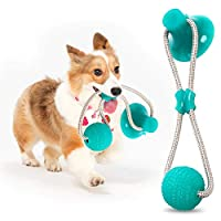 Aidiyapet AIDIYA Dog Toy Durable Dog Tug Rope Ball Toy with Suction Cup - Pulling, Chewing, Playing, Adult Dogs and Puppies (Green)