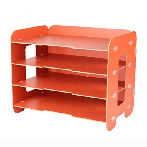 Liuyu · Maison de vie Fichier Plateau Creative BRICOLAGE Bureau Bureau Boîte De Rangement Woody A4 Finition Cabinet ( Couleur : Orange )