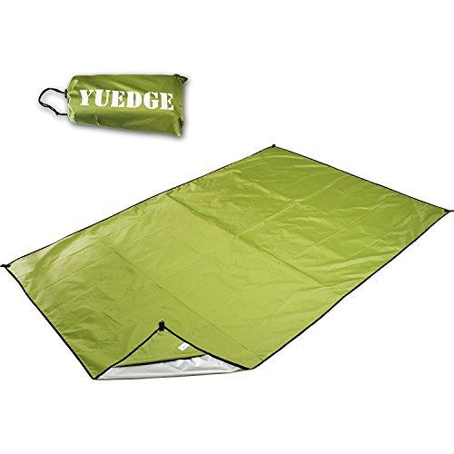 YUEDGE 2,1m×1,5 m Picknickdecke Stranddecke Wasserdicht Sanddicht Tragbar ultraleicht Campingmatte Freibaddecke (M, Armeegrün ) Kleine Plane