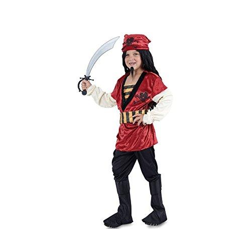 Fyasa 706047-t03pirata chico disfraz, tamaño mediano, color rojo