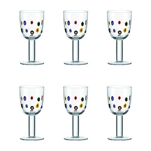 Leonardo 017189 Millefiori - Juego de copas de vino blanco (6 unidades)