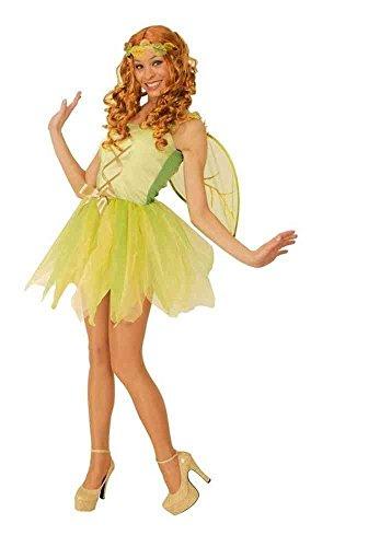 Feen Kostüm grün für Damen   Größe 36/38   3-teiliges Elfenkostüm   Waldfee Faschingskostüm für Frauen   Feenkostüm für Karneval (Feen Kostüm Frauen)