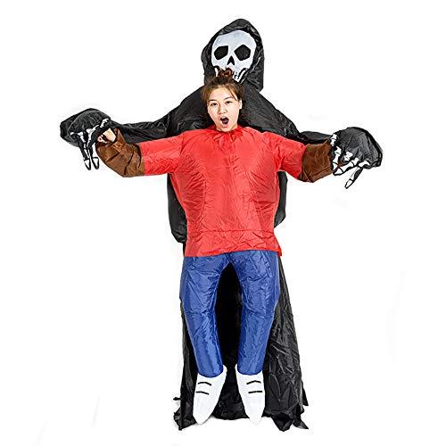 Fantasma Gonfiabile Costume Cosplay Pauroso Fantasia Vestito Triste Mietitore Adulto Saltare Abiti Per Adulti
