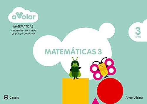 Matemáticas 3. 3 años. ¡A volar! - 9788421855591