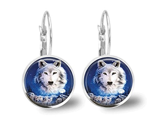 Wolf Ohrringe Fliesen Jewelry Tier Schmuck