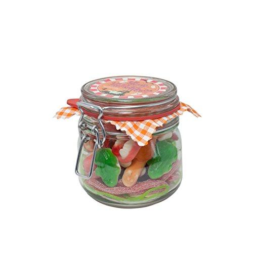 ten-Glas, gruseliger Süßigkeiten-Mix in 540 gramm Naschfreude, Süßes und Saures in einem tollen Einmachglas verpackt ()