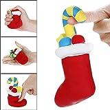 Quaan Weihnachten Spielzeuge, Squishies Weihnachten Weihnachtsmann Claus Spielzeug Schleppend Steigend Früchte Duftend Stress Linderung Spielzeuge Kind und Erwachsene Spielzeuge (A, 15x8cm)