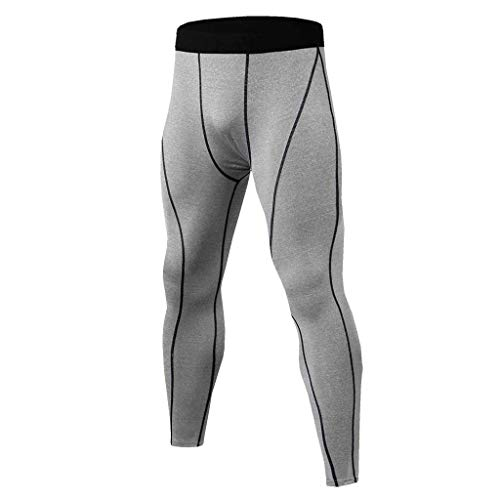 Zarupeng Herren Workout Fitness Lange Hosen Stretch Kompression Sport Bodybuilding Yogahose Trainingshose Low Rise Home Unterhose Leggings