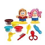 STOBOK 1 stück Kinder pädagogisches Spielzeug 3D haarfarbe ton plastikform Set Spielzeug Kinder Salon Set stilvolle Mode Pretend Play Spielzeug