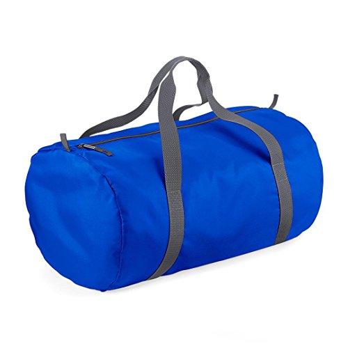 BagBase - Sac de Sport Tonneau repliable - Bleu Royal/Gris Graphite