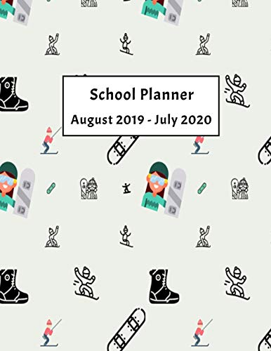 2019-2020 School Planner: Weekly, Monthly and Yearly Calendar (Snowboarding School Planner, Band 2) Avery Ski