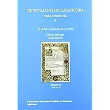 Quintiliano de calahorra, obra completa tomo III de Marco Fabio Quintiliano (2 jul 2000) Tapa blanda