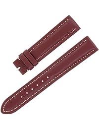 Breitling x18518–16mm Bracelet en cuir véritable Bordeaux Mesdames