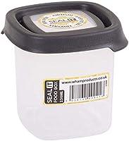 Wham Seal It Square Food Box, Graphite - 231 Ml - Clear/Graphite