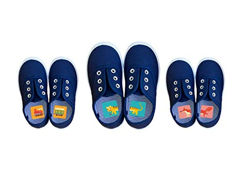 Laufkleber 8er Set - Schuhetiketten für Kinder zur Vermeidung von Entenfüßen (8er Set)