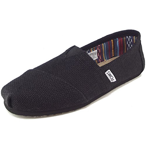 toms-classic-burlap-mn-sneakers-man-black-size-6-uk