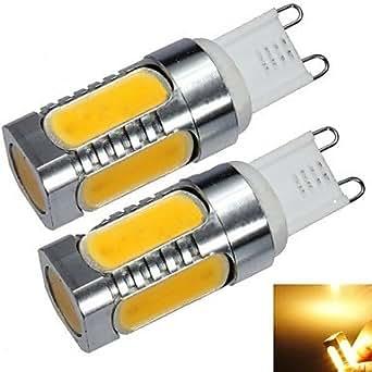 le G9 de 7W 550lm 2700k lumière blanche chaude Ampoule LED (220v)