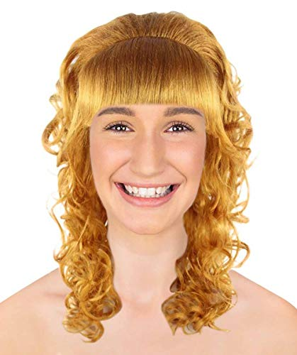 Halloween-Party-Online Pin up Girl Goldene Brown-Perücke MTO HW-1292 (Kinder) (Costume Halloween Golden Girls)