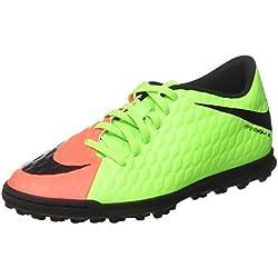 Hypervenomx Phade III TF, Scarpe da Calcio Uomo, Verde (Electric Green/Black-Hyper Orange-Volt), 42 EU