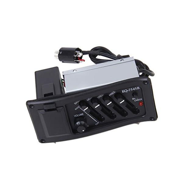 Kit Completo Eq Pre-amp Pi¨´ Pickup Per Chitarra Acustica 7545r