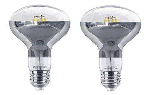 Reflektorlampe, 2 x 8 W LED R80, E27, Kaltweiß, Ersatz für Halogen-Spots