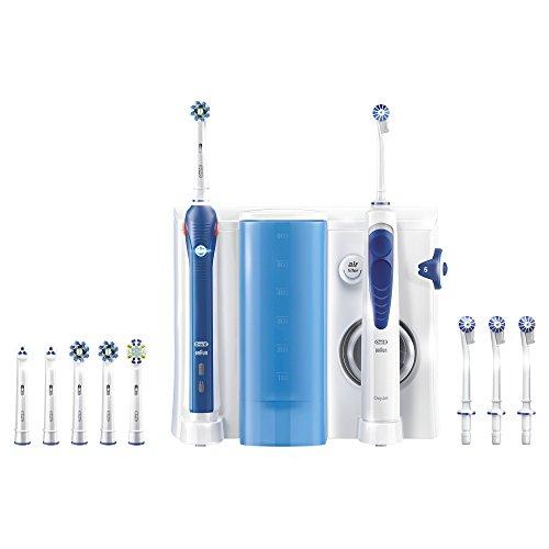 Oral-B Oxyjet Sistema Pulente con Idropulsore + Oral-B PRO 3000 Spazzolino Elettrico, Ricaricabile