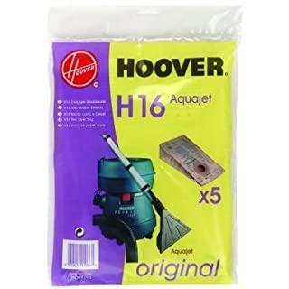 Wet & Dry Hoover Vacuum Cleaner Paper Bags, Packet Of 5, Genuine Bags - Bag Code H16, High Filtration To Fit: Aquaplus, Aquajet, Aquamaster Electronic C2334 S4326 S4328 S4330 S4332..See Full Model Fitment List Below