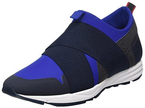 HUGO Herren Hybrid_Runn_neoel Slip On Sneaker, Blau (Medium Blue), 45 EU (Hugo Boss-blaue Schuh)