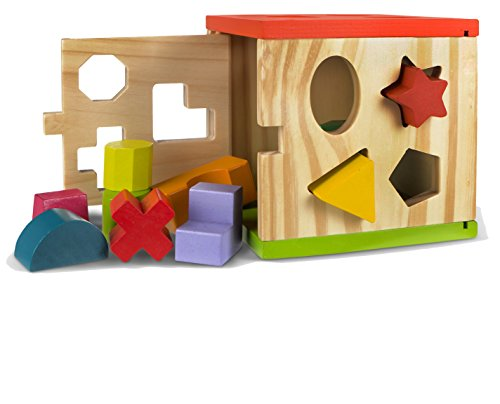 ColorBaby - Wooden activities box - 14 pieces (42139)