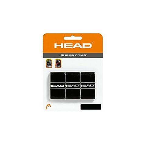 Head Lot de 3 surgrips Super Comp pour raquette de tennis noir Noir