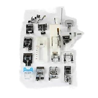 Ackermann Nähfuß-Set 15-teilig in Hartplastik-Box, Materialmix, Weiß, 19 x 13 x 3 cm, Einheiten