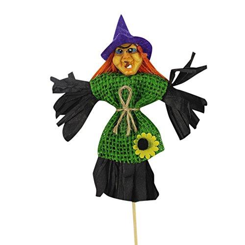 VEMOW Heißer Halloween Dekoration Ornamente Kinder Spielzeug Rocker Hexe Kürbis Halloween Szene Dress Up Requisiten(zufällig, 33 x 12 cm)