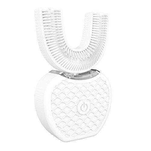 Neues Update Elektrische Zahnbürste OYOTRIC Wireless Charging, U Type Zahnbürste Elektrische Ultraschall Sonic Zahnbürsten Wiederaufladbare neue Automatische (Weiß)