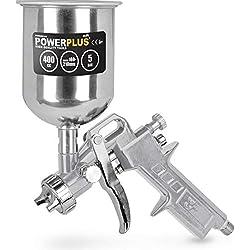 pistolet pulvérisateur haute pression fourniture de couleur par gravité - pistolet de pulverisation godet haut 400cc - POWAIR0105