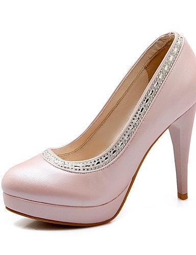 WSS 2016 Chaussures Femme-Bureau & Travail / Décontracté-Bleu / Rose / Blanc-Talon Aiguille-Talons / Bout Arrondi-Talons-Polyuréthane blue-us6.5-7 / eu37 / uk4.5-5 / cn37