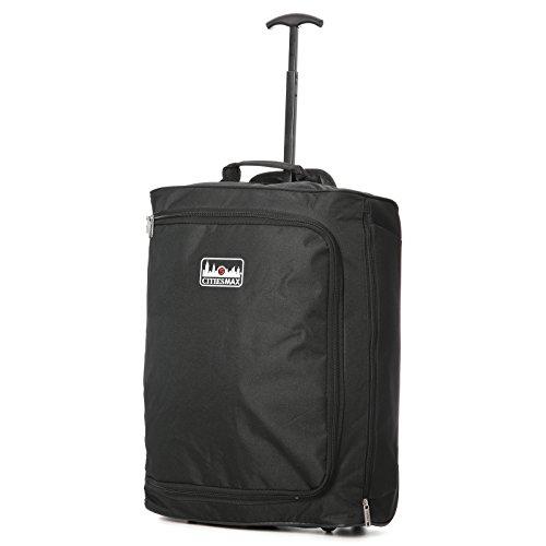 Vierteiliges Set Ryanair 55x40x20cm Maximal Größe Trolley Handgepäck Und 35x20x20 Tasche Reisetasche - Nehmen Sie beide mit! schwarz
