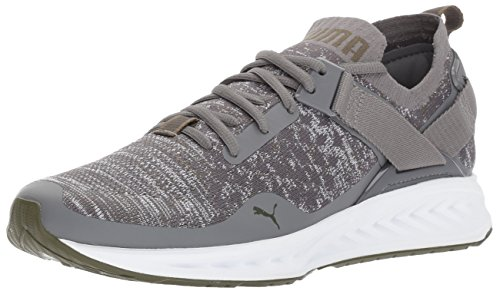 Puma-Mens-Ignite-Evoknit-Lo-Sneaker-Quiet-Shade-White-Olive-Night-10-M-US