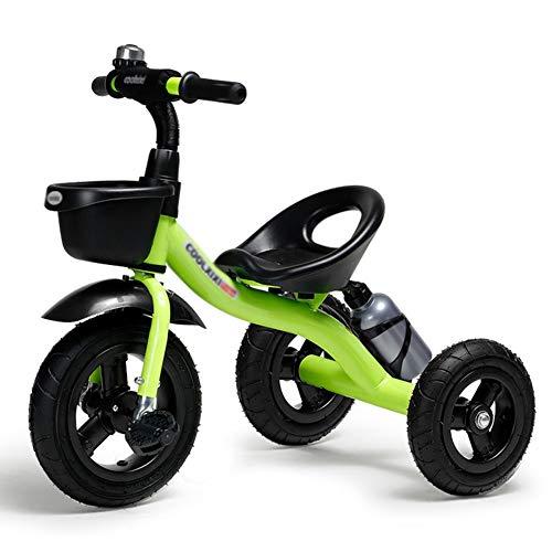 DBSCD Trikes for Toddlers, Kids Triciclo per Bambini Bicicletta 1-6 Anni Grande Neonato Bambini 3 Ruote Carrozzina (Colore: Verde)