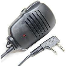 MICRO ALTAVOZ DE MANO Funcion Micrófono Y Auricular Para 2-pin Kenwood HYT PUXING WOUXUN LINTON Walkie Talkie