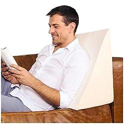 Purovi Keilkissen für Bett und Sofa | Rückenstütze | Nackenkissen | Lesekissen | Das perfekte Couch Kissen für Ihr Zuhause