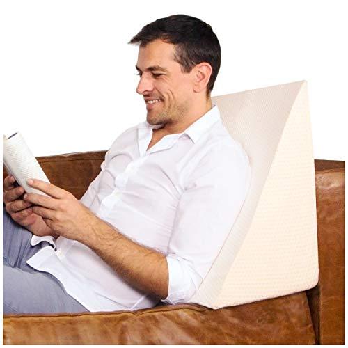 Purovi Keilkissen für Bett und Sofa | Rückenstütze | Nackenkissen | Lesekissen | Das perfekte Couch Kissen für Ihr Zuhause -
