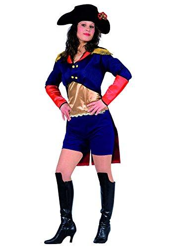 Ciao Blumen Paolo 25899.-Napoleon Kostüm Damen Erwachsene, Größe M (Napoleon Bonaparte Kostüm)