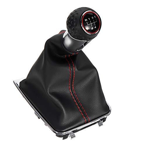 YONGYAO Leder-Shifter Getriebeknob Mit Boot Cover 5 Speed Handle Für Vw Golf Mk7 GTI 2013-2017 -