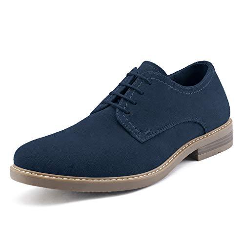 Bruno Marc LG19001M Zapatos de Cordones Vestir Oxfords para Hombre Azul Marino 43 EU/10 US