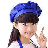 Shujin Unisex Kinder Jungen Mädchen Koch- Hut Chefkoch Bäcker-Küche Kopfbedeckung Geeignet für Küche/Restaurant/Bar/Malen
