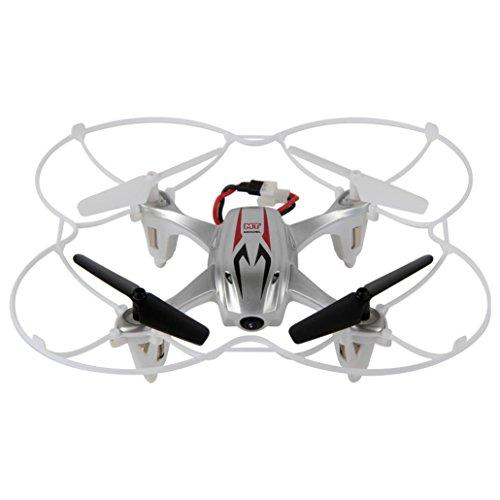 Lacaca M9916 2.4GHz 4CH 6-Axis Gyro Senza Testa RC Quadcopter Con Videocamera HD, 360 Gradi 3D Rotolamento Modalità RC Drone (Argento)